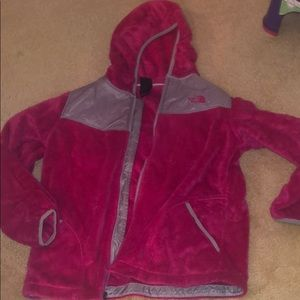Girls Pink North Face Jacket
